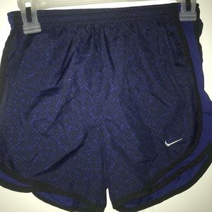 Nike Tempo shorts - black and royal blue design!